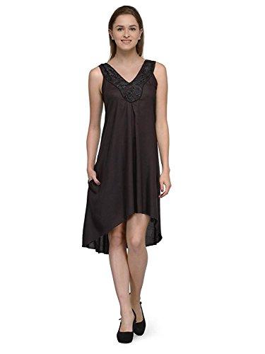 RADANYA getrimmt Ausschnitt eine Linie Chemise Nighty Nachtkleid Nachtwäsche für Frauen - Chemise Nighty