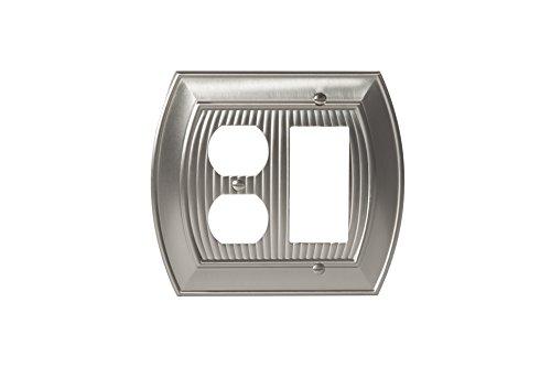 Amerock bp36539g10Allison 1Wippe, 1Köcher-– Satin Nickel - 2 Rocker Wall Plate