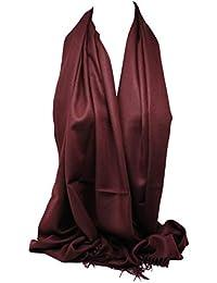 Cachemire de haute qualité Pashmina Ressentir Emballage Couleurs solides  Écharpe ... 11b7304e38d