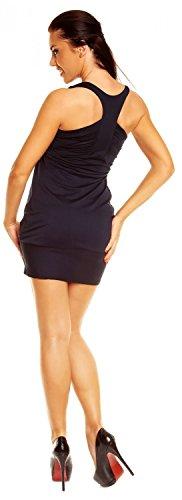 Zeta Ville - vestito tunic - abito con fondo a palloncino in voile donna - 024z Marina