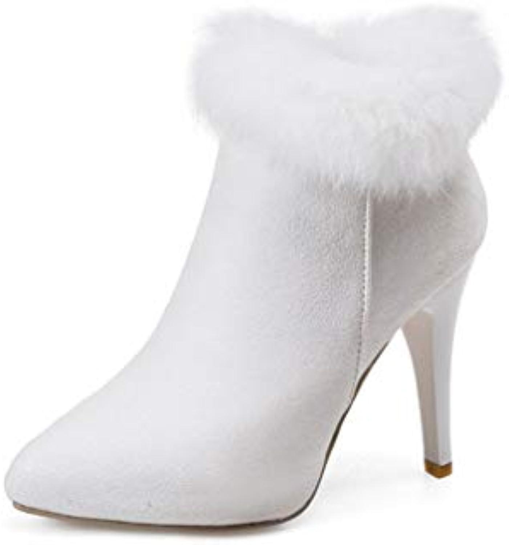 Stivali Martins da donna, donna, donna, in pelle scamosciata autunno   inverno, scarpe da sposa con personalità di flusso fluo...   Ottima qualità  7ffbdd