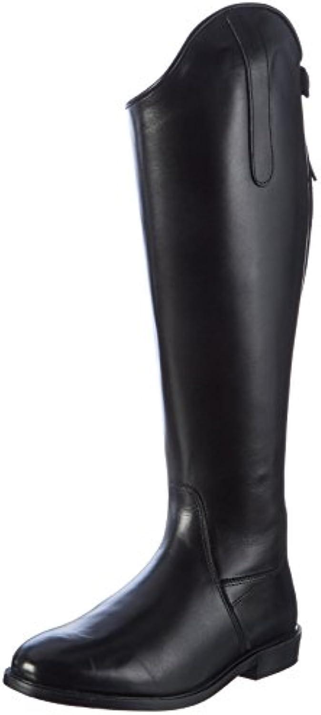 Hkm – Botas de equitación Italy Soft Piel Corta/Gran Negro Negro Talla:39 UE  -