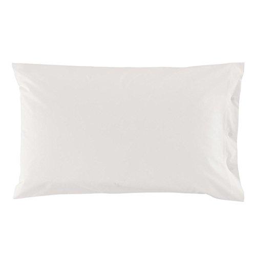 Federa zucchi clic clac tinta unita col.1000 bianco cm 50 x 80 100% puro cotone percalle