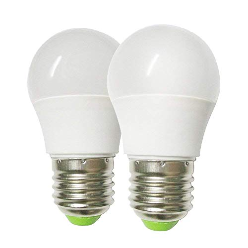 GRV E27 6-5730 SMD LED Globe Blub Lampe Licht AC12V DC12-24V 3 Watt Thermische Kunststoff LED Lampe Warm Weiß Packung mit 2 Stück (Globe-lampen)