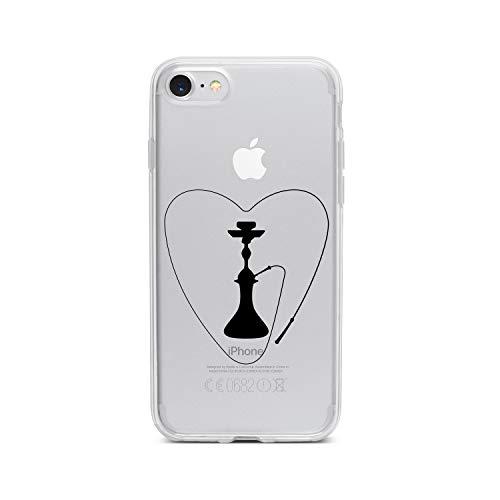 licaso Apple iPhone 7 Handyhülle Smartphone Apple Case aus TPU mit Love Shisha Print Motiv Slim Design Transparent Cover Schutz Hülle Protector Soft Aufdruck Lustig Funny Druck