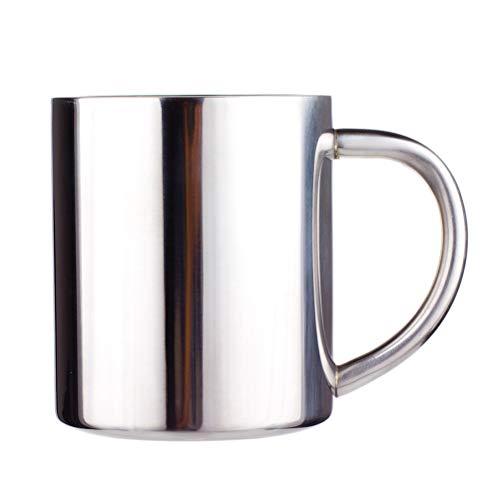 BESTONZON Edelstahl isolierte Trinkbecher mit Henkel Teetasse Kaffeetasse Doppelschichten Wärmer 220 ml