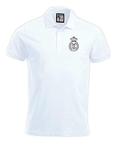Real Madrid 1920s Polo Football Nouveau tailles S-3XL Logo Brodé - Rouge, Small