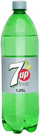 7UP Free, Carbonated Soft Drink, Plastic Bottle, 1.25 Liter
