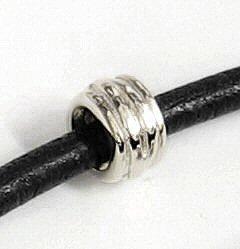 Queenberry Sterling Silber Celtic Braid Tube Spacer Charm Bead für Pandora, Chamilia, Troll, baigi Charm-Armbänder - Braid Tube