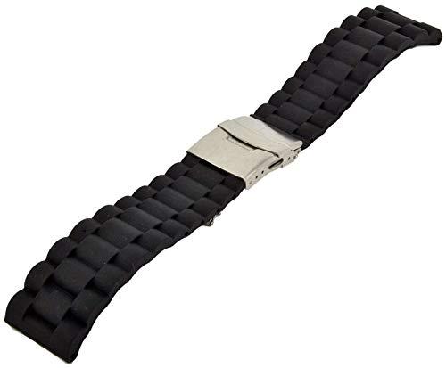 Silikon Divers Strap 20-22-24mm Taucher Uhrenarmband Faltschließe Uhren Armband 24 mm