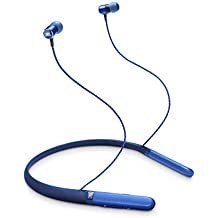 JBL LIVE200BT Wireless in-Ear Neckband Headphones with Three-Button Remote and Microphone (Blue)