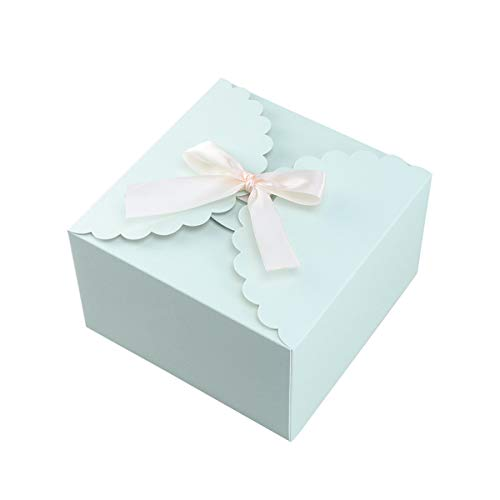 15 Stücke Papier Pralinenschachtel Einfarbig Geschenk Fall Behandelt Delicate Snack Goodies Pralinenschachteln Party Supplies (Blau)