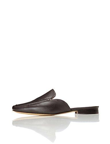 Find. Zapato Destalonado con Costura para Mujer, Marrón Choco, 40 EU