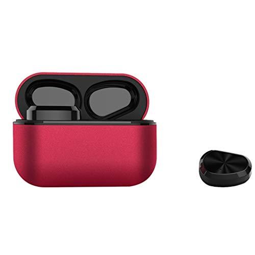 TDFGCR Mini Twins True Wireless Sport Ohrhörer Bluetooth In-Ear Stereo-Kopfhörer-rot