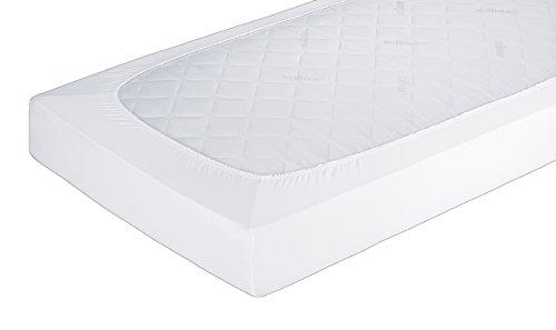 ZOLLNER® hochwertiges Spannbetttuch / Spannbettlaken 160x200 cm für hohe Matratzen bis 20 cm, direkt vom Hotelwäschespezialisten, Serie