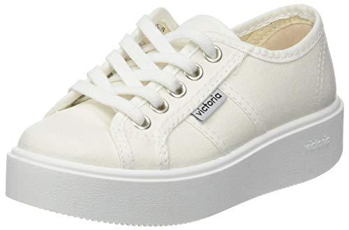 Victoria Basket Lona, Zapatillas para Niñas, Blanco 20, 30 EU