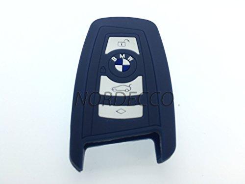 Haute qualité en silicone sans clé Smart pour clé de 2/3/4 Housse de protection pour BMW 1 3 4 5 6 7 Série F12 F13 F20/21 F30 F26 F23 F34 F35 Modèle (Bleu marine)
