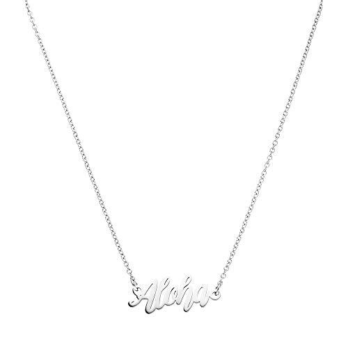 PURELEI Damen Halskette Silber Anhänger Geschenk für Frauen Freundin Schmuck (45 cm Länge) Langes Weltkugel Herz Kette Choker Modeschmuck Set Geburtstagsgeschenk Freundin Mutter