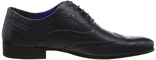 Red Tape Carn 2, Brogues Homme Bleu Marine