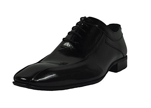 École–Chaussures pour homme avec ceinture assortie en cuir véritable en différentes couleurs (310) Noir - Noir