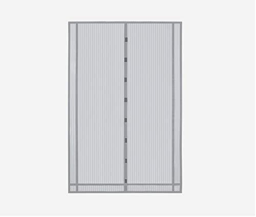 Sekey 230x160 cm Tendina magnetica per zanzariera, ideale per porte da balcone, cantine, terrazze (ritagliabile in altezza e larghezza), facile da montare, colore: Grigio