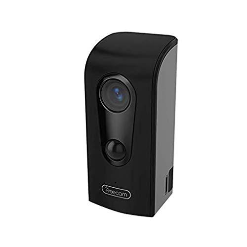 TianranRT Freecam Outdoor Drahtlos Batterie Powered WiFi Kamera HD Home Sicherheit Kamera (Schwarz) Batterie-powered-headset