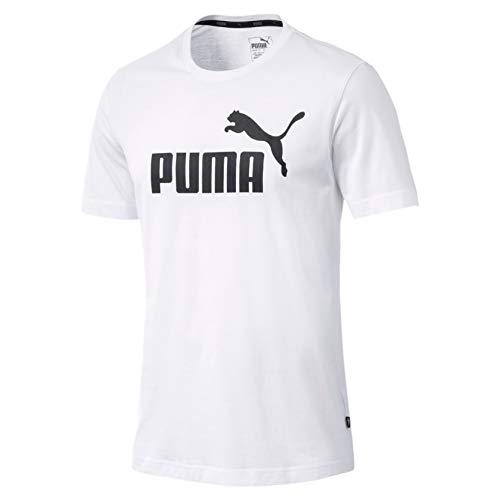 PUMA Herren ESS S Logo Tee T-Shirt, Weiß (White), L