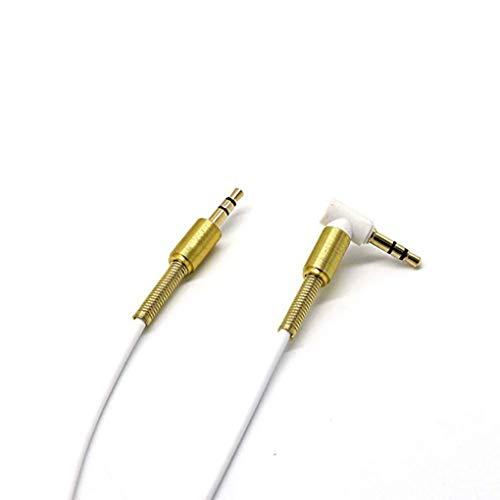 e Elbow Stecker auf Stecker Cable Car Verlängern Stereo-Kopfhörer AUX Audio Extension Line Replacement für Handy-Lautsprecher ()