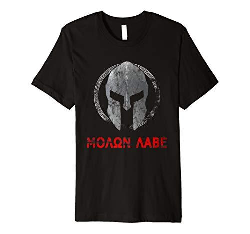 Sparta Krieger T-Shirt Molon Labe Vintage Fitness Gym Shirt