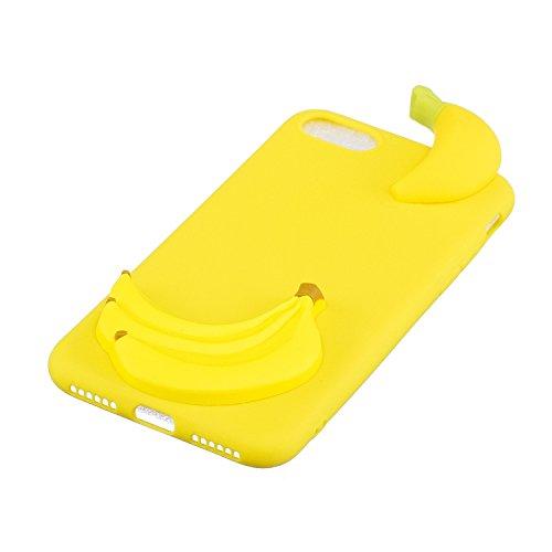 iPhone 6 Plus Cover , Hülle TPU Silikon Case für iPhone 6S Plus Slim Fit Schutzhülle Tasche Ultradünnen Flexibel Weich hülle Skin Schutz Schale Protective Cove für Apple iPhone 6 Plus / 6S Plus (5.5 p Gelbe Banane