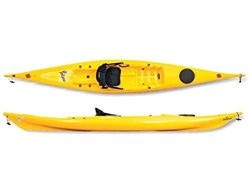 InoxProyect Kayak Rigido Sit on Top - Vulcano 425 Base - Deportes Pesca Mar (Amarillo)