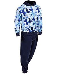 eb0123542 Pixel Pijamas Niños Ropa de Dormir para niños Pijamas 100% algodón Sudadera  con Capucha Sudadera
