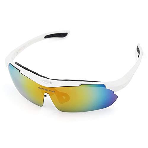 Adisaer Sonnenbrille Damen Outdoor Sportbrillen Mit Polarisierten Gläsern Beim Angeln Angeln Golf Uv Schutz White Damen Herren