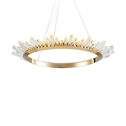 Moderner minimalistischer LED-Kronleuchter Postmodern Nordic Lampen Luxus Kristalllampe Warm Romantisch Wohnzimmer Kreativ Persönlichkeit Schlafzimmer Restaurant Nordic Runde Lampe,80cm -