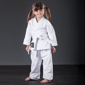 Blitz Poly Baumwolle Student Karate Anzug–Rot, 2–150cm