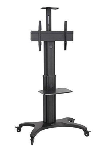 Preisvergleich Produktbild AVF1500-60-1P TV Standfuss, Trolley, TV-Wagen, mobil mit feststellbaren Rädern, Alu, schwarz