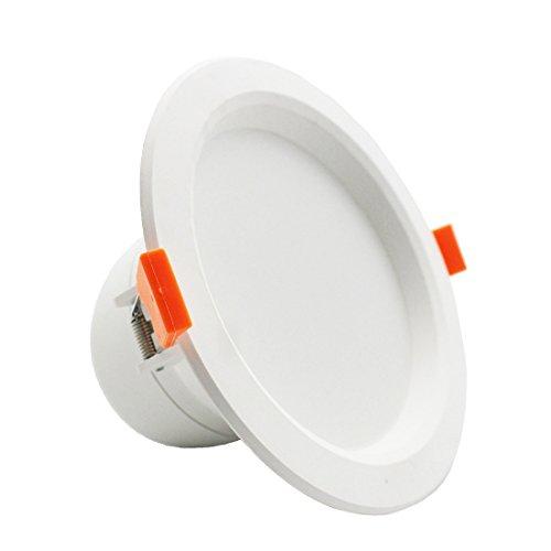lediary 6W LED Radar Sensor Einbaustrahler Einbauleuchte Bewegungsmelder Licht LED Deckenleuchte Wandleuchte kalt weiß, RADAR-D-6W 6.00 wattsW (Motion-sensing-licht-schalter)