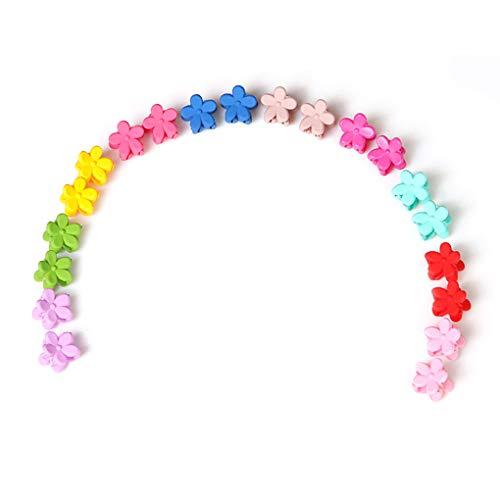 probeninmappx 50 PC Cabritos del bebé Forma Colorido Mini Retro de la Flor del Pelo de Las Garras Abrazaderas broches de Horquilla apretones Accesorios para el cabellomostrar como imágenes