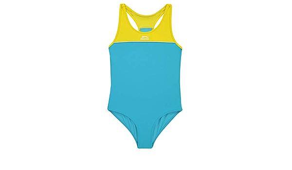 Slazenger Kids Girls Basic Swimsuit Junior Racer Back