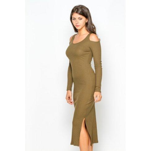 Princesse boutique - Robe khaki mi-longue Vert