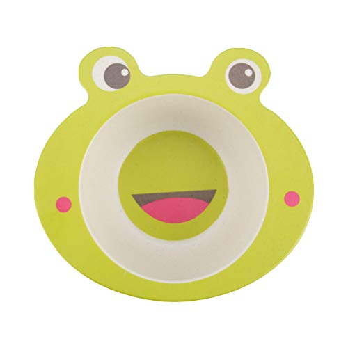 BESTONZON Babyschale Bambusfaser Kids Dinner Geschirr Tier Kind Speiseschale (Frosch)