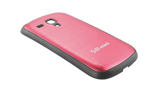 Urcover Original Aluminium Akkudeckel für Samsung Galaxy S3 Mini [DEUTSCHER FACHHANDEL] Batteriedeckel Aluminium Gehäuse Batterie Rückabdeckung Hülle Schale Schwarzer Rahmen Rot