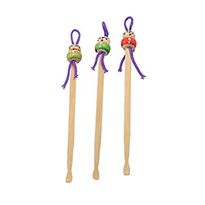 Wooden Ear Pick - TOOGOO(R)Tricolor China Doll Decor Wooden Earwax Remover Ear Picks 6 Pcs