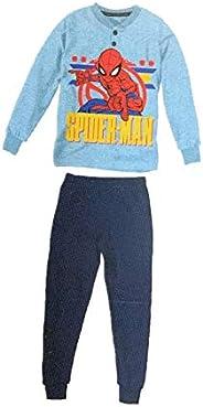 Sabor Pigiama Bambino Invernale Spiderman, Pigiama in Felpa, Pigiama Bambino Felpato Disney Marvel -