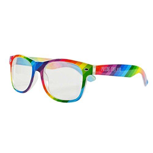 Neuheit: Brille in irischen Nationalfarben mit weißem Aufdruck