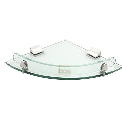 KKCF Dusche Rack Eckablage Wandhalterung Lager Wasserdicht Hart Glas, 2 Spezifikationen (Farbe : Klar, größe : Layer)