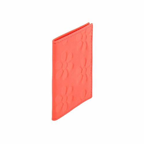 titolare della carta in pelle Rosso