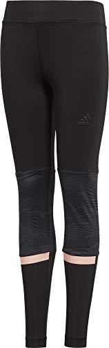 adidas Mädchen Training 1/1 Tight, Black/Carbon/Clear Orange, 152