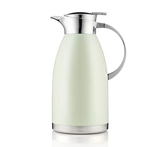 ZMYLOVE 2,0 Liter Vakuumkaffeekanne Edelstahlkessel isoliert Thermoskanne,Chrome -