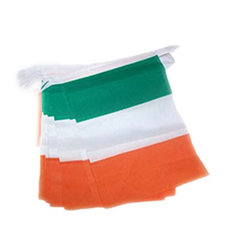 St. Patrick's Day Ireland Tri Colour Flag Style Bunting (5 Meters)